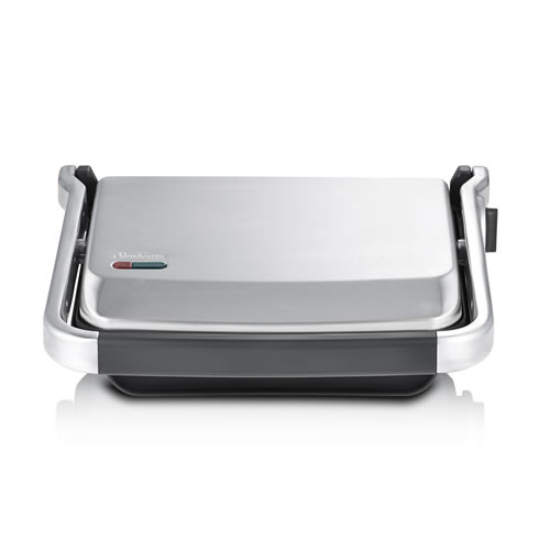 Sunbeam Cafe 4 Slice Sandwich Press - Brushed Stainless Steel