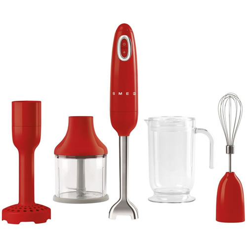 Smeg 50's Style Stick Mixer Red