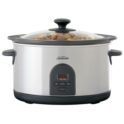 Sunbeam SecretChef 5.5 Litre Electronic Slow Cooker Stainless Steel