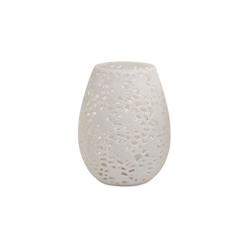 Olivia Hurricane Lamp 30cm in White