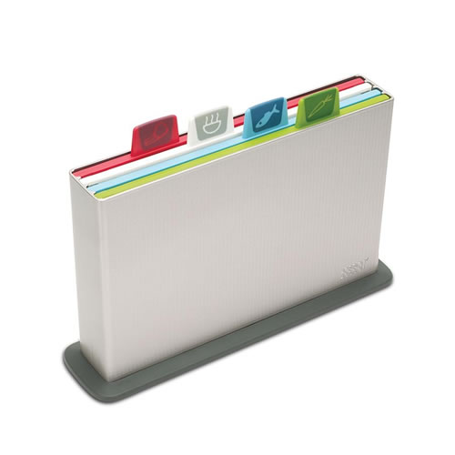 Index Chopping Board Set in Silver