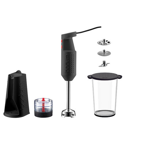 e-Bodum Bistro Electric Stick Blender in Black with Accessory Bundle