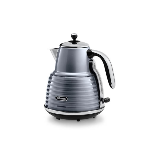 DeLonghi Scultura Kettle in Steel Grey