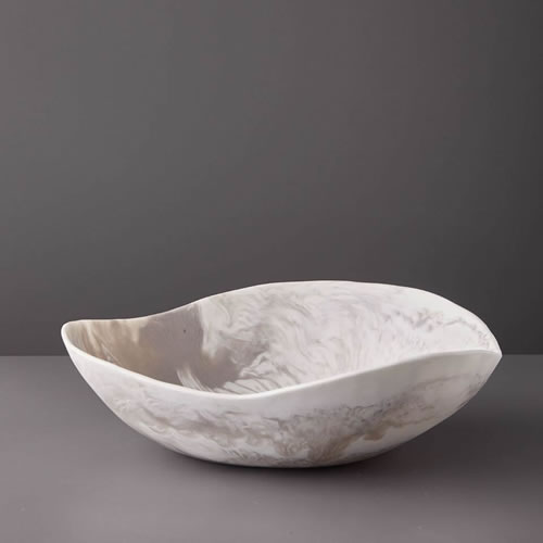 Resin Large Bowl in Dovetail Marble