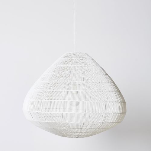 Aisha Pendant Shade in White