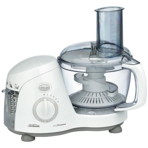 Sunbeam Food Processors 5 Speed Capacity in White