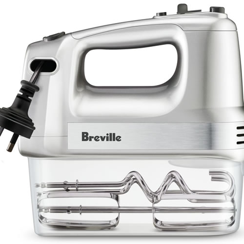 Breville The Handy Mix & Store Hand Mixer Silver