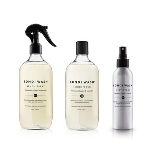 Bondi Wash Laundry Set in Lemon Tea Tree & Mandarin