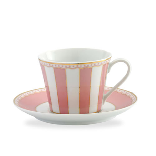 Carnivale Cup & Saucer Set in  Pink
