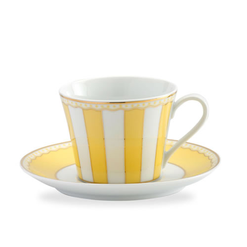 Carnivale Cup & Saucer Set in  Yellow
