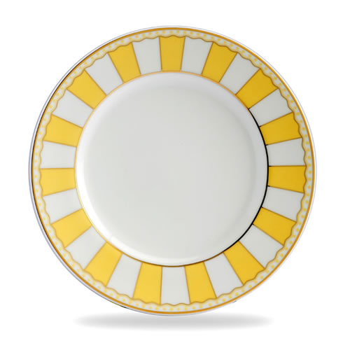 Carnivale Cake Plate Set in Yellow