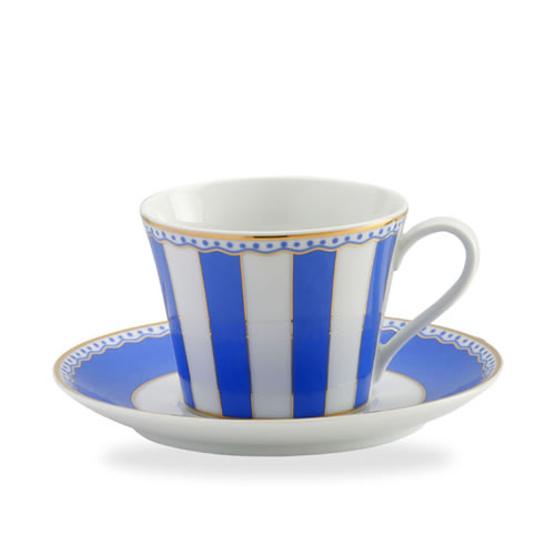 Carnivale Cup & Saucer Set in Dark Blue