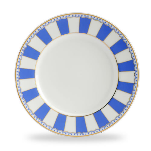 Carnivale Cake Plate Set in Dark Blue