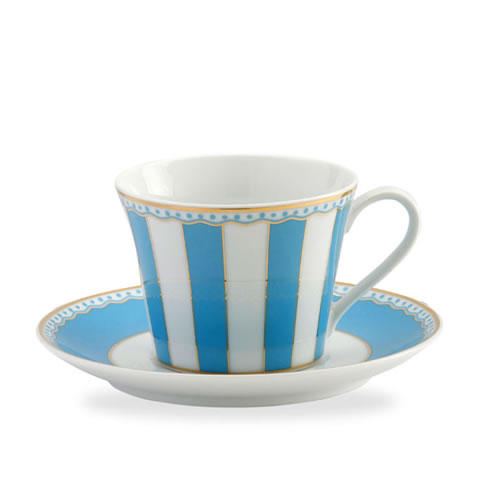 Carnivale Cup & Saucer Set in Light Blue