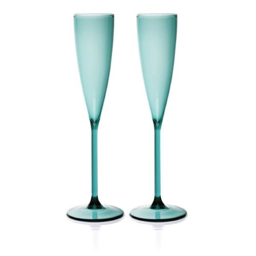 Champagne Flutes Teal