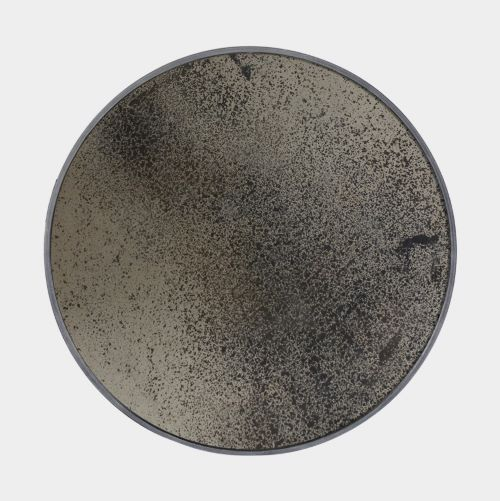 Notre Monde Round Heavy-Aged Mirror in Bronze - Small