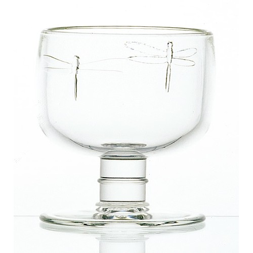 Dragonfly Clear Wine Glass