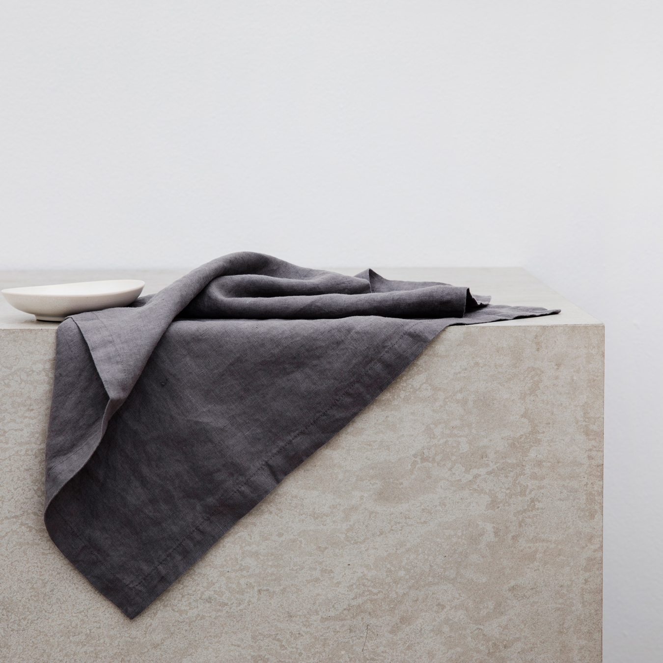 Linen Table Napkins Set of Four Charcoal Grey