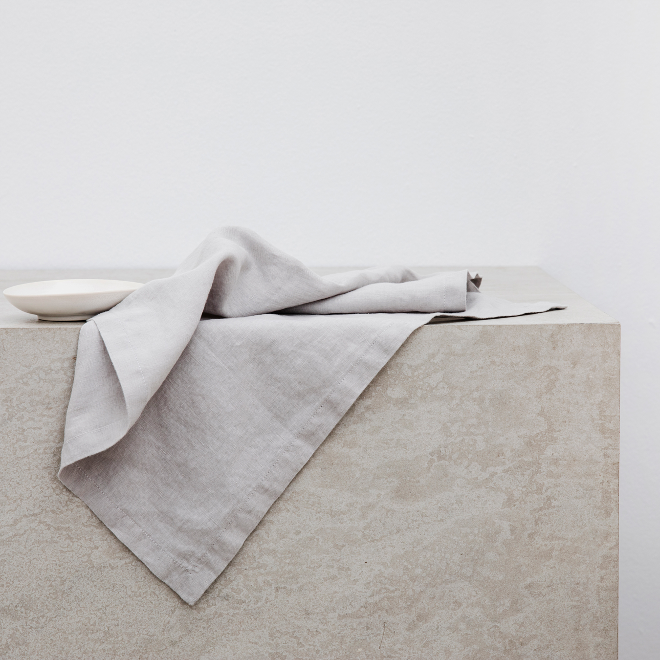 Linen Table Napkins Set of Four Smoke Grey