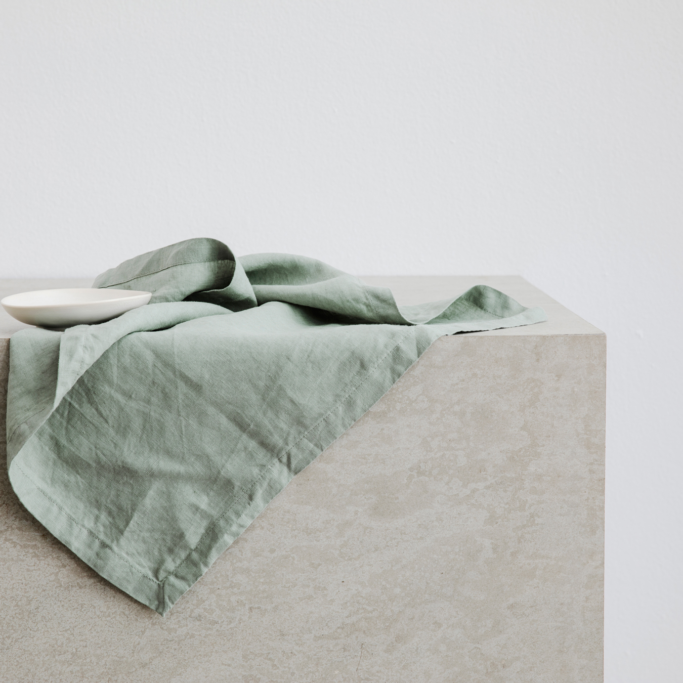 Linen Table Napkins Set of Four Sage
