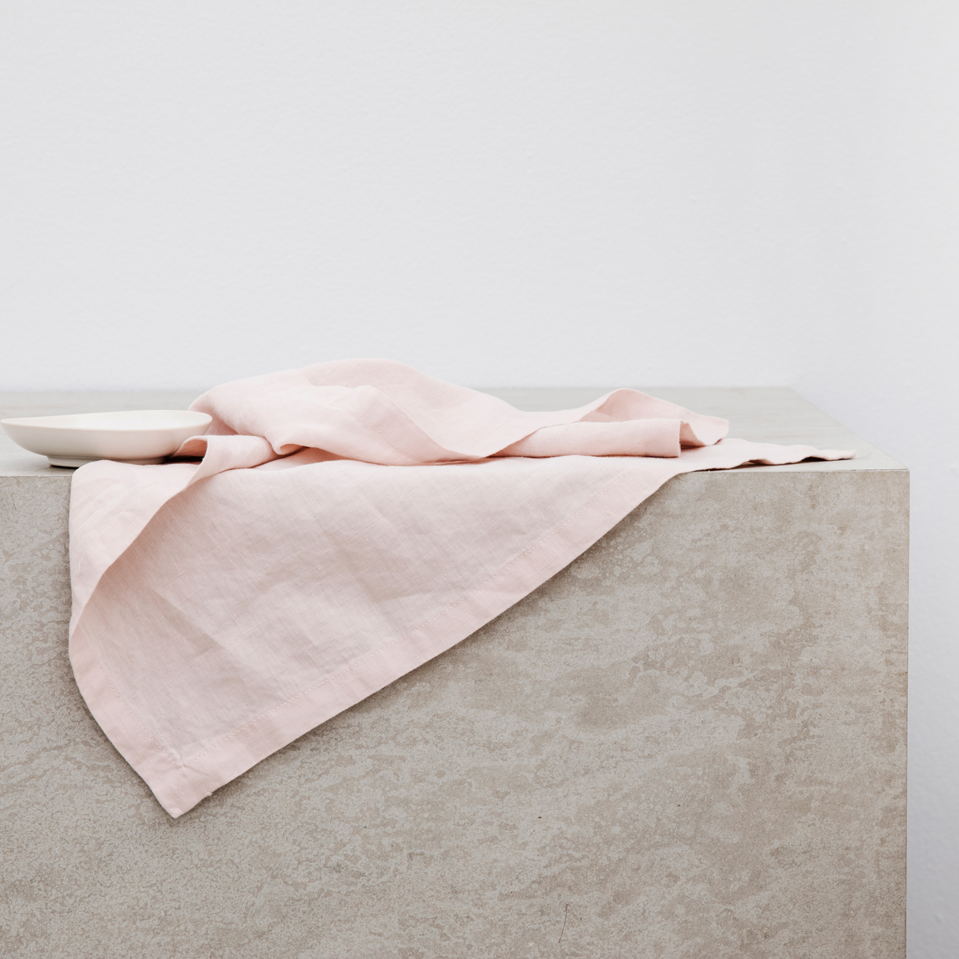 Linen Table Napkins Set of Four Blush