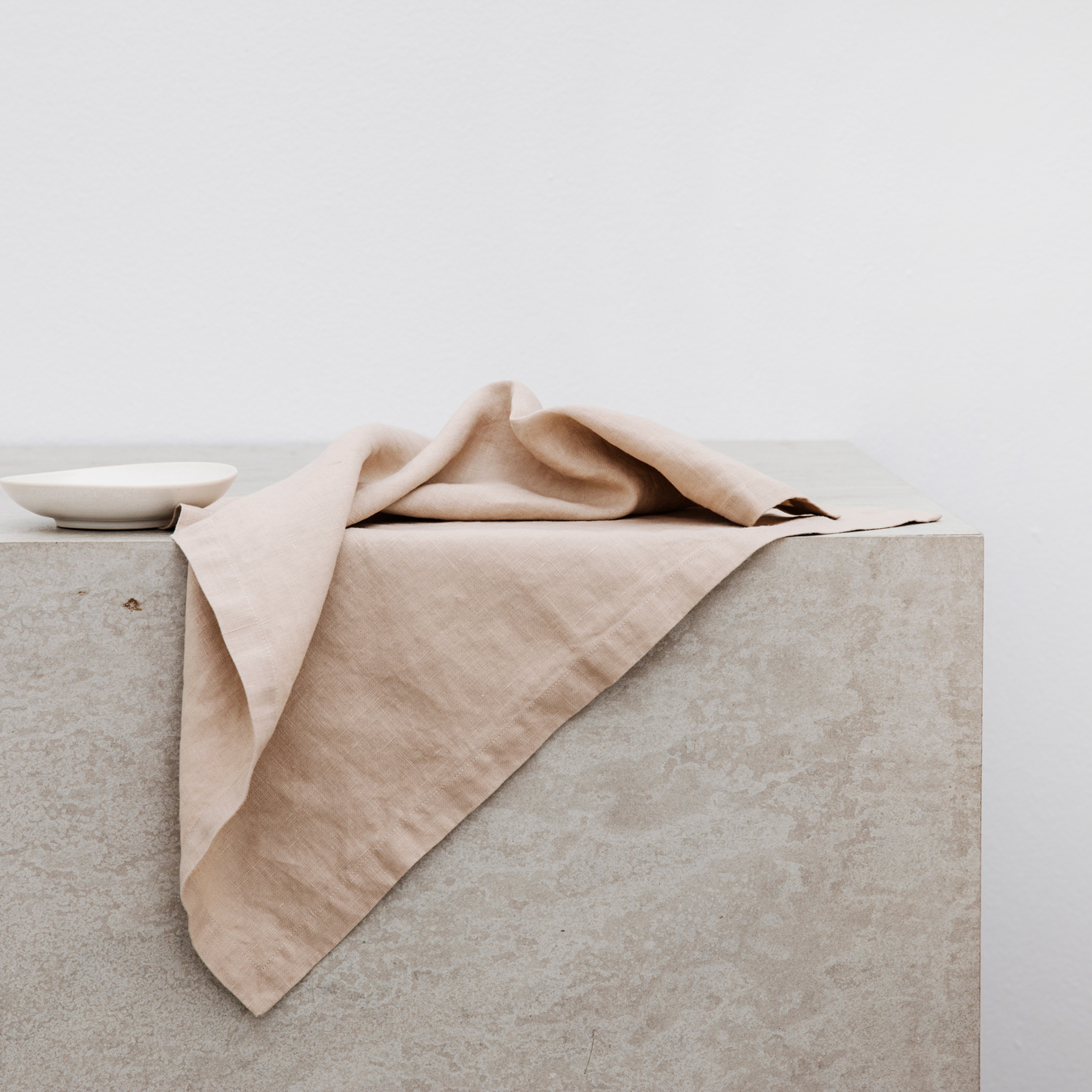 Linen Table Napkins Set of Four Nude