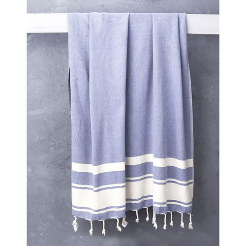 Nomad Handloomed Turkish Towel in Cobalt