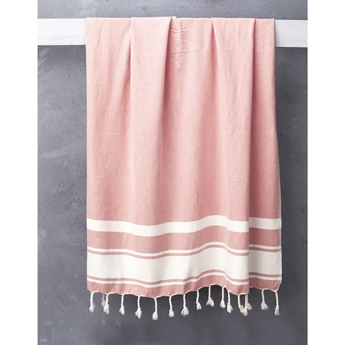 Nomad Handloomed Turkish Towel in Coral