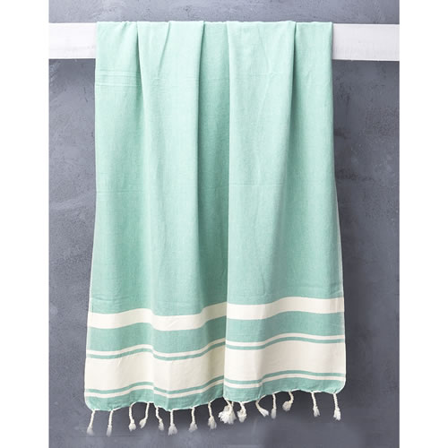 Nomad Handloomed Turkish Towel in Soft Emerald