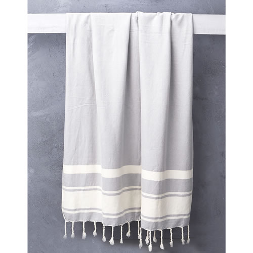 Nomad Handloomed Turkish Towel in Grey