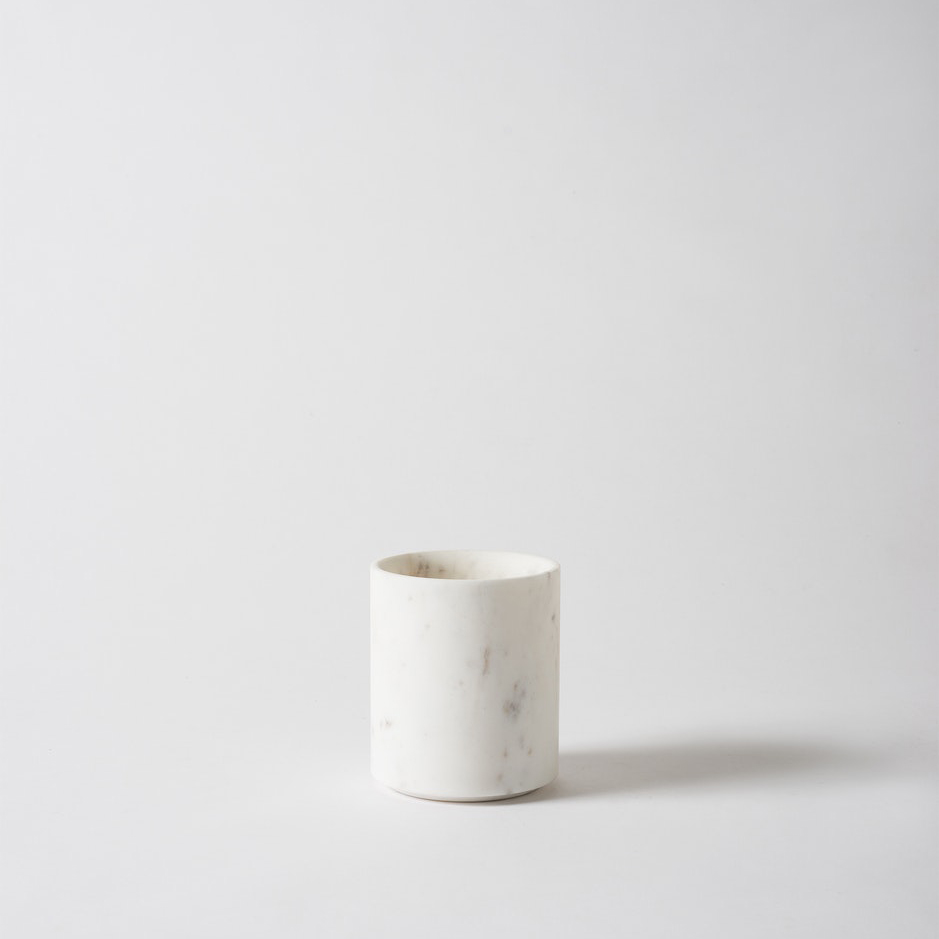 Ora Marble Utensil Holder White
