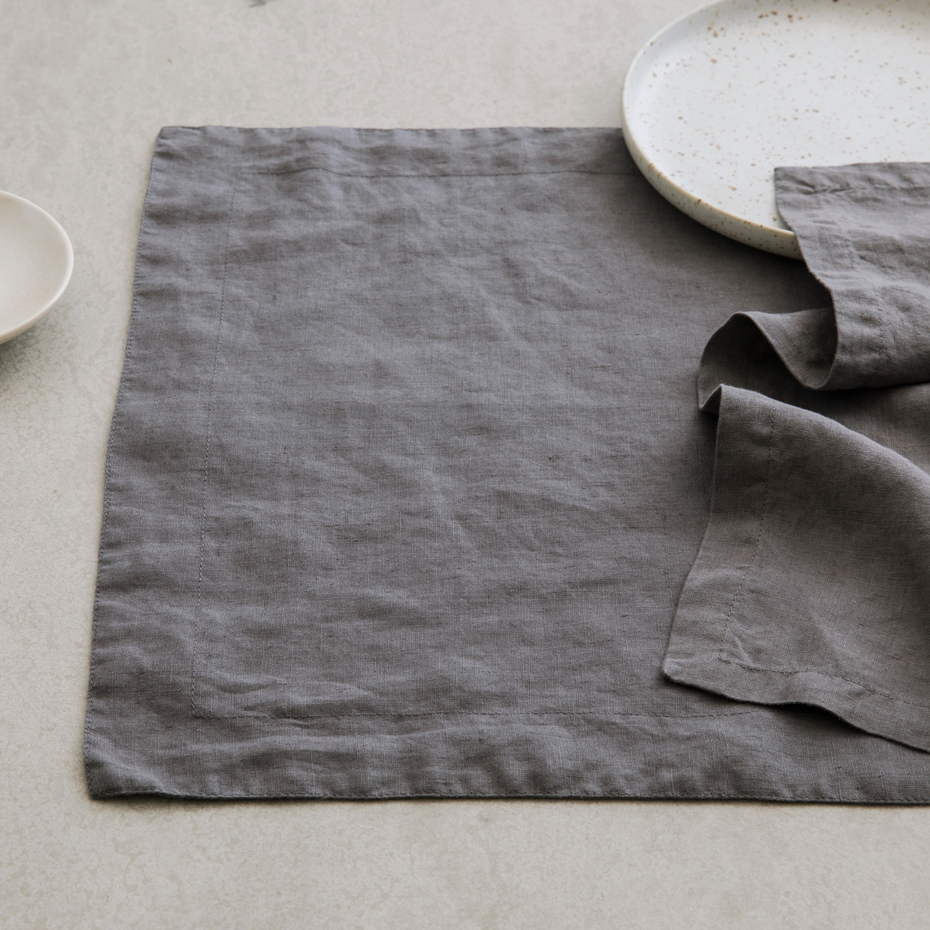 Linen Placements Set of Four - Charcoal Grey