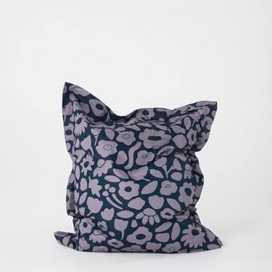 Daisy Chain Pillow Bean Bag Navy & Stone