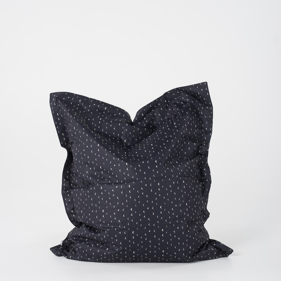 Lela Pillow Bean Bag Black & Milk