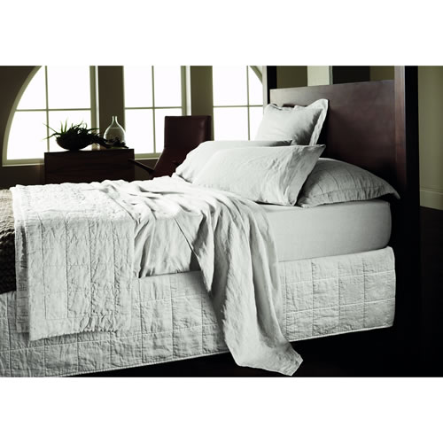 Abbotson Queen Quilted Bedskirt in White