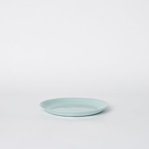 Scoop Salad Plate in Blue