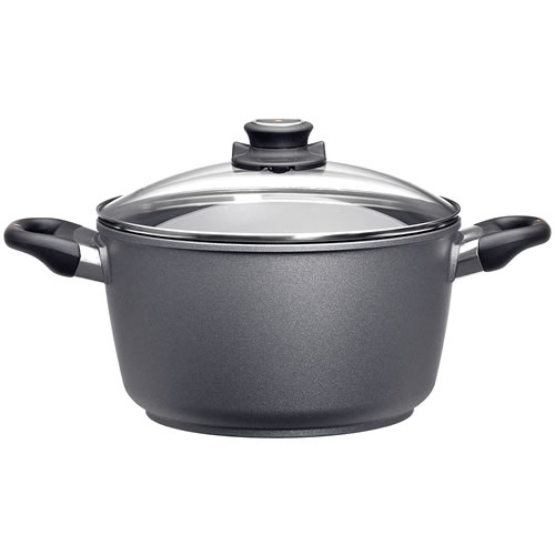 Swiss Diamond Deep Stockpot with Glass Lid 28cm - 8L