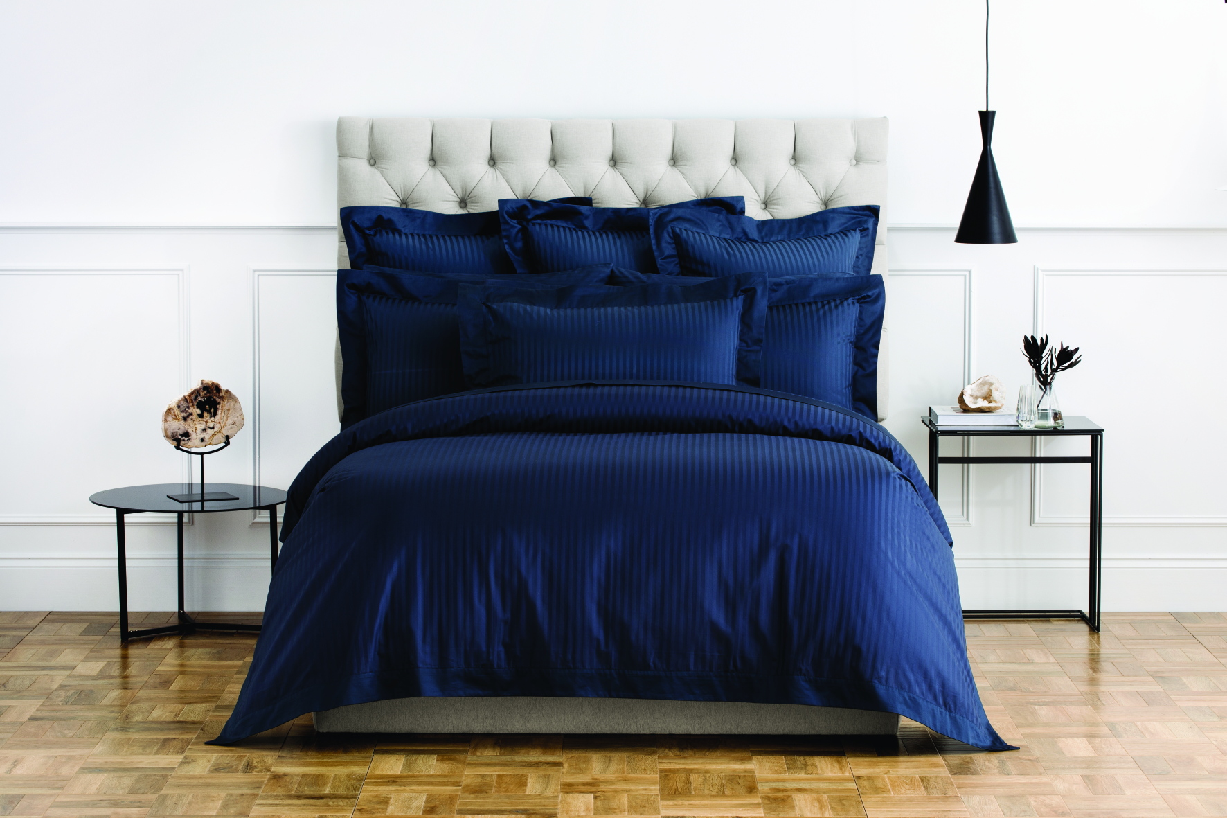 Millennia Super King Tailored Quilt Cover in Midnight