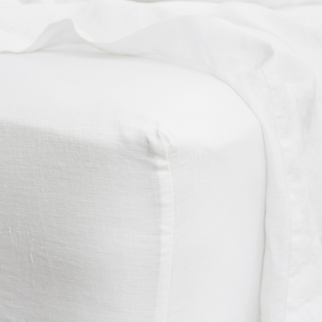 King Linen Fitted Sheet White
