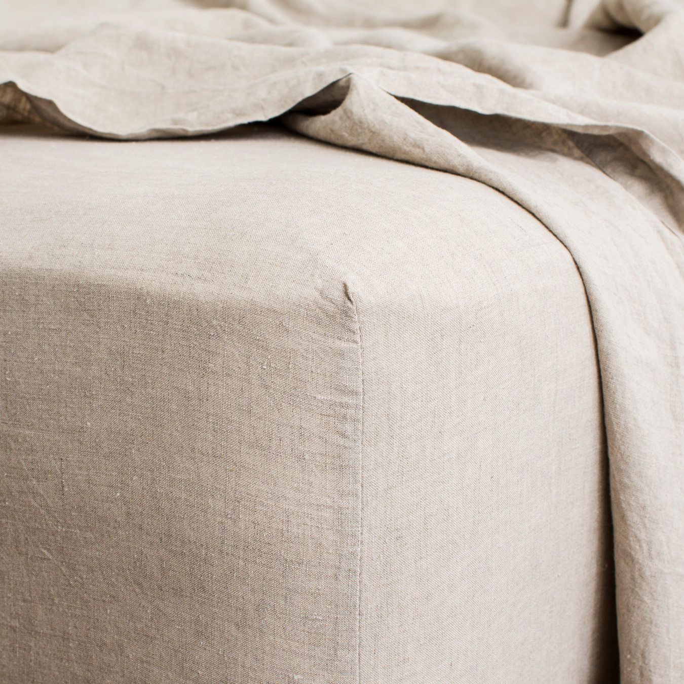 King Linen Fitted Sheet Natural