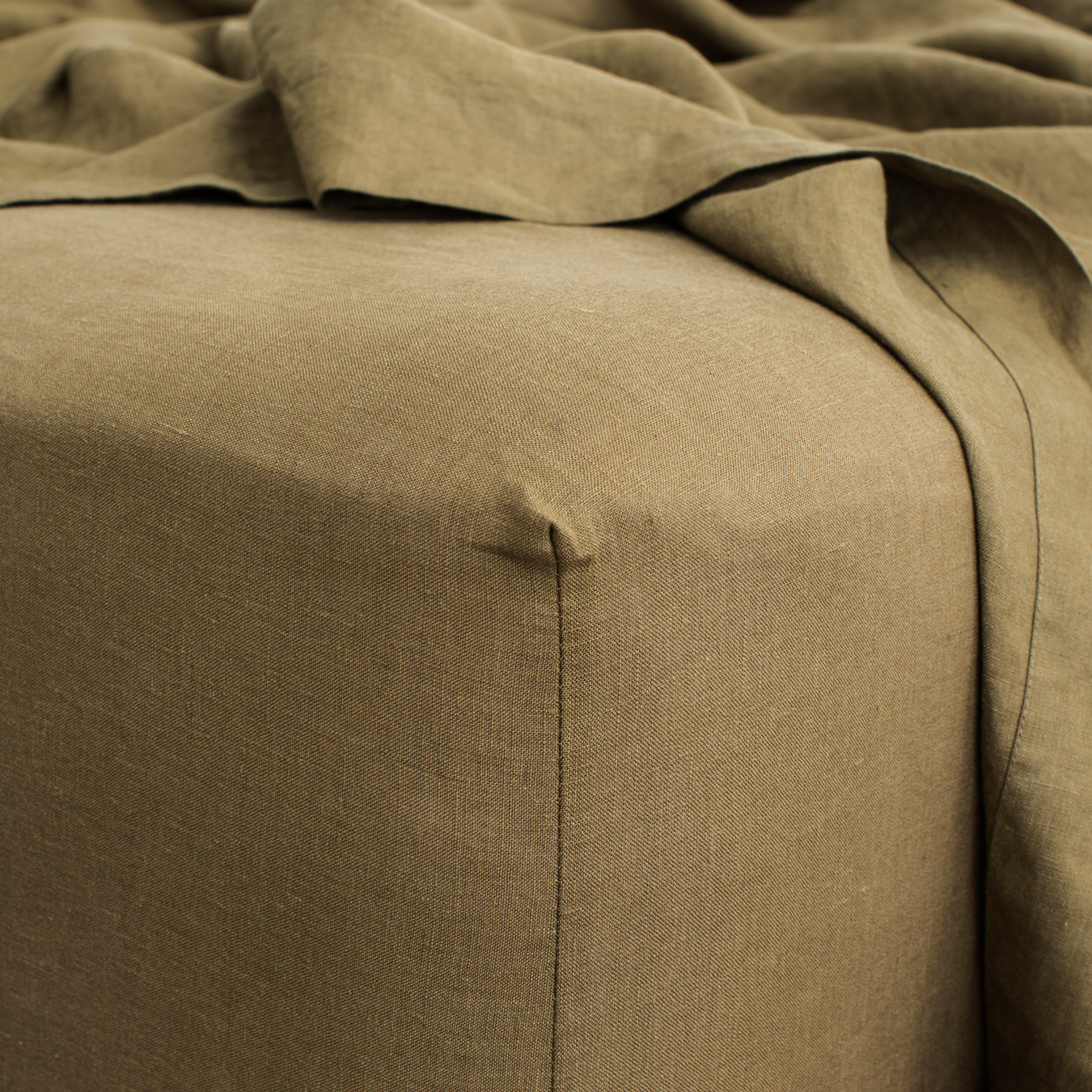 King Linen Fitted Sheet Olive