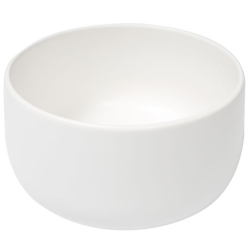Ceilia Large Salad Bowl  White Matte