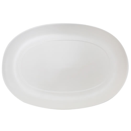Catalina Small Platter White Matte 24x35cm