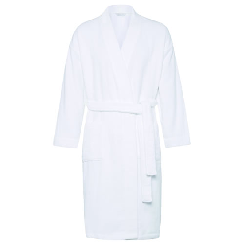 White Quick Dry Luxury Towelling Robe Small Med