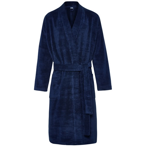Quick Dry Luxury Midnight Towelling Robe Small Med