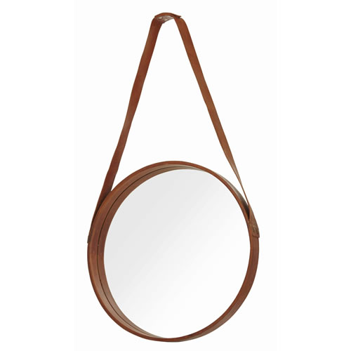Hunter Leather Mirror Brown