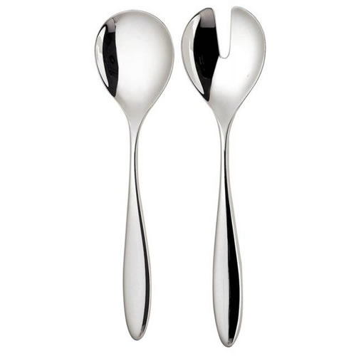 Mami Salad Servers in Stainless Steel