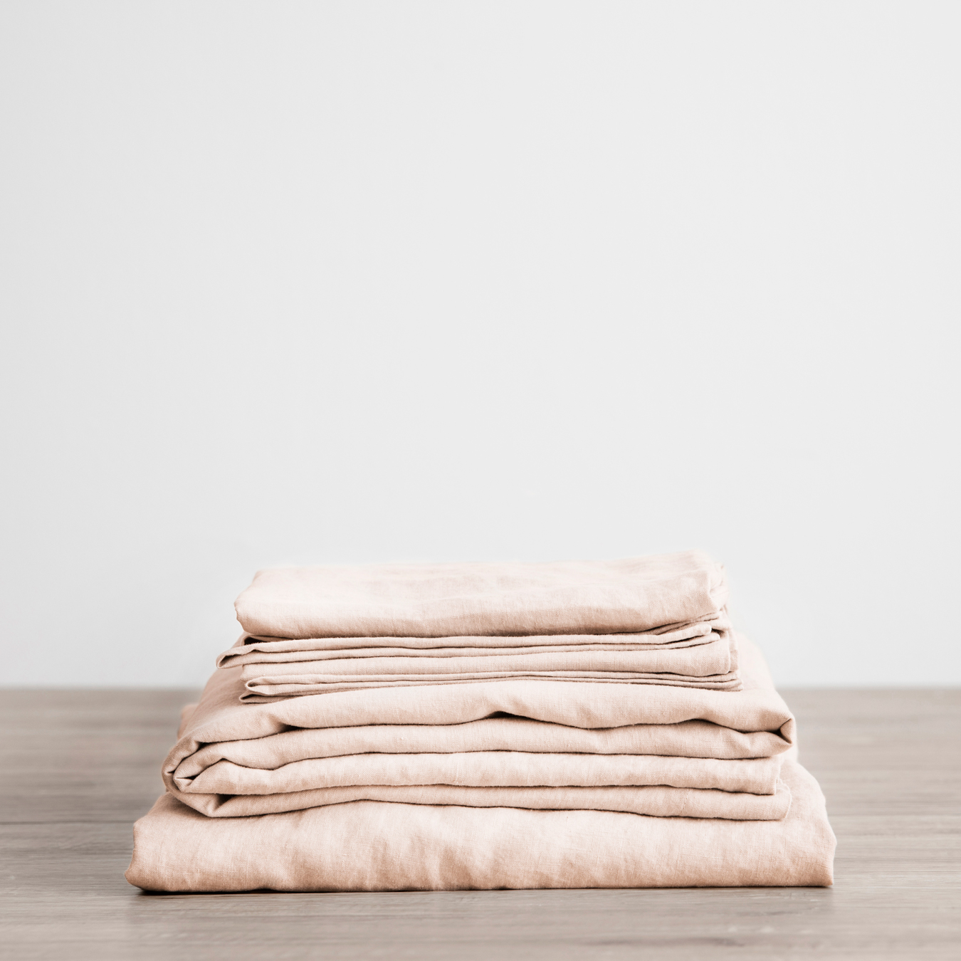 King Linen Sheet Set with Pillowcases Blush