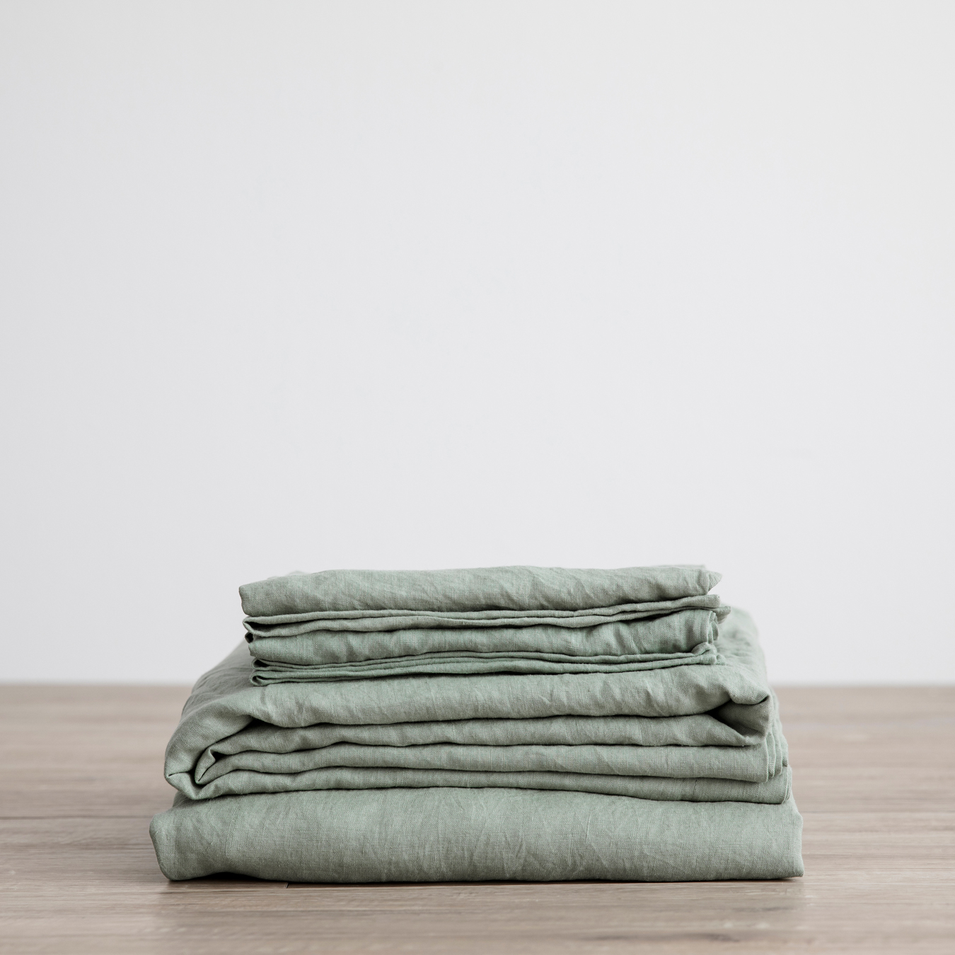 King Linen Sheet Set with Pillowcases Sage