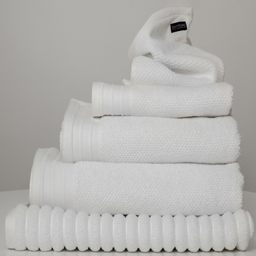 White Jacquard Bath Sheet